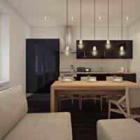 вариант красивого стиля квартиры студии 26 квадратных метров картинка