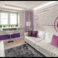 идея красивого стиля студии 20 кв.м фото