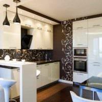 пример яркого интерьера кухни 11 кв.м фото
