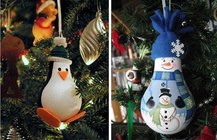 игрушки из лампочек