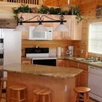 интерьер кухни на даче фото идеи