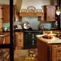 интерьер кухни на даче идеи фото