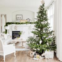 как украсить елку в 2018 году фото интерьера