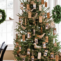 как украсить елку в 2018 году гостиная