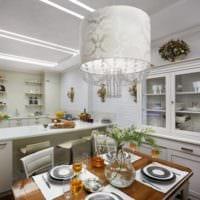 дизайн кухни с вентиляционным коробом классический