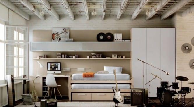 комната для подростка в стиле рок