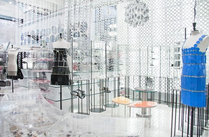 красивый дизайн магазина одежды
