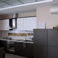 кухни с вентиляционным коробом идеи фото