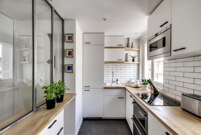 встроенная мебель на кухне 5 кв м