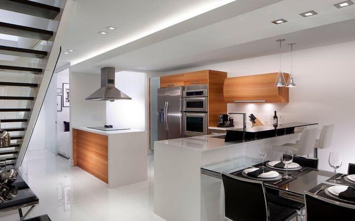 кухня хай тек дизайн
