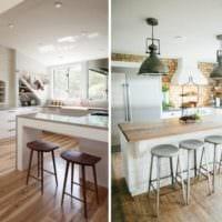 кухня лофт стильные люстры