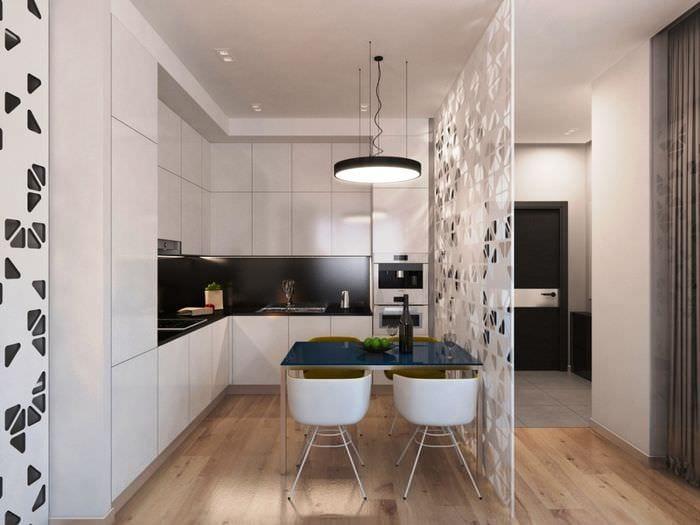 кухня отделенная перегородкой
