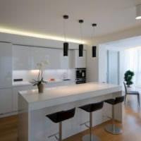 кухня с балконом фото