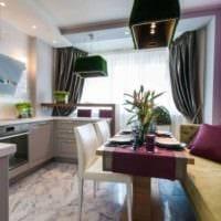кухня с удобным диваном