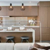 кухня столовая гостиная в частном доме идеи фото