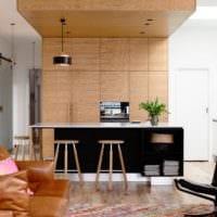 кухня столовая гостиная в частном доме интерьер