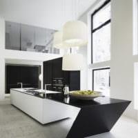 кухня в стиле хай-тек дизайн гарнитура