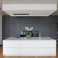 кухня в стиле хай-тек дизайн планировка