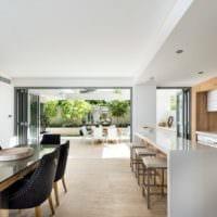 кухня в стиле хай-тек фото интерьера