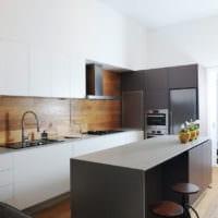 кухня в стиле хай-тек гарнитур
