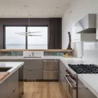 кухня в стиле хай-тек идеи фото