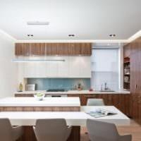 кухня в стиле хай-тек интерьер