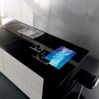 кухня в стиле хай-тек мебель
