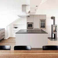 кухня в стиле хай-тек практичная
