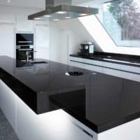 кухня в стиле хай-тек практичный дизайн