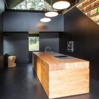 кухня в стиле хай-тек проект
