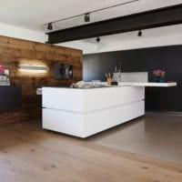 кухня в стиле хай-тек современная