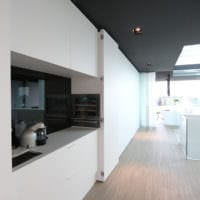 кухня в стиле хай-тек современный интерьер