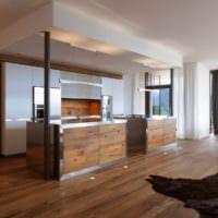 кухня в стиле хай-тек стильная