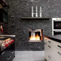 кухня в стиле хай-тек стильный интерьер