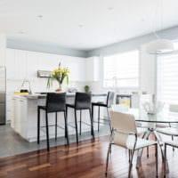 кухня в стиле хай-тек светлый интерьер