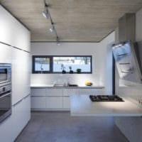 кухня в стиле хай-тек удобный дизайн