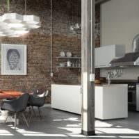 кухня в стиле лофт дизайн