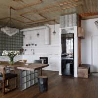 кухня в стиле лофт дома