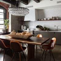 кухня в стиле лофт идеи