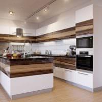 кухня в стиле модерн комбинирование