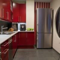 кухня в стиле модерн красная