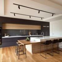кухня в стиле модерн материалы