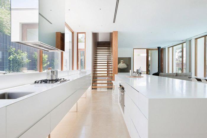 стол подоконник на кухне модерн