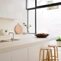 кухня в стиле модерн светлые тона