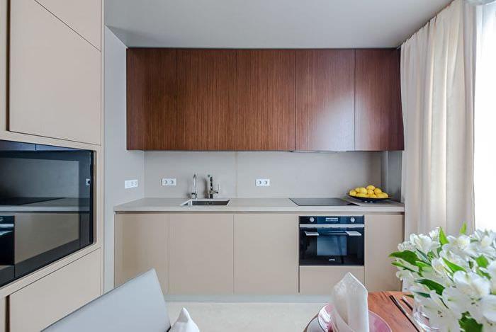 занавески на кухне модерн