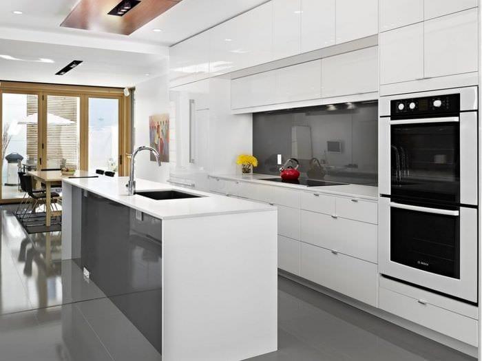 кухня хай тек мебель
