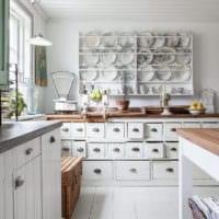 кухня прованс фото интерьера