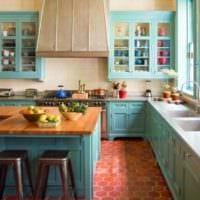 кухня прованс стильный интерьер