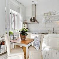 кухня прованс в белых тонах