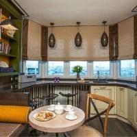 кухня с эркером дизайн фото